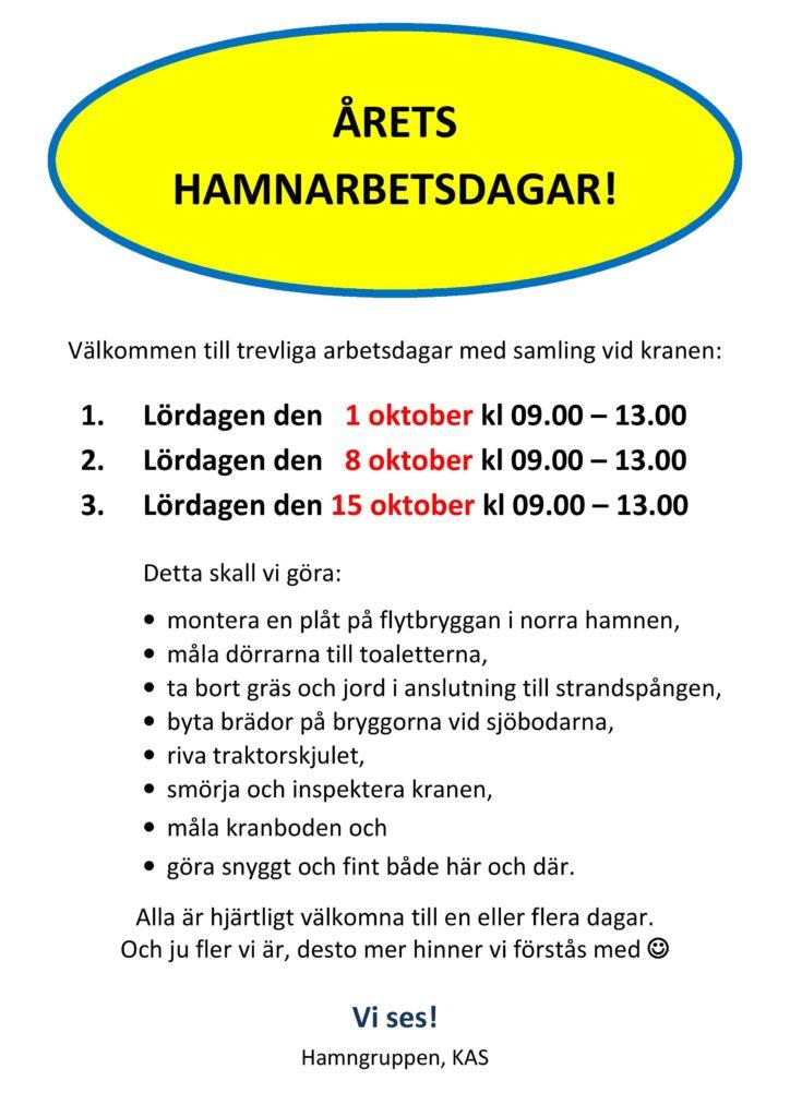Arbetsdag Hamnen @ Kranen, Kalvsund