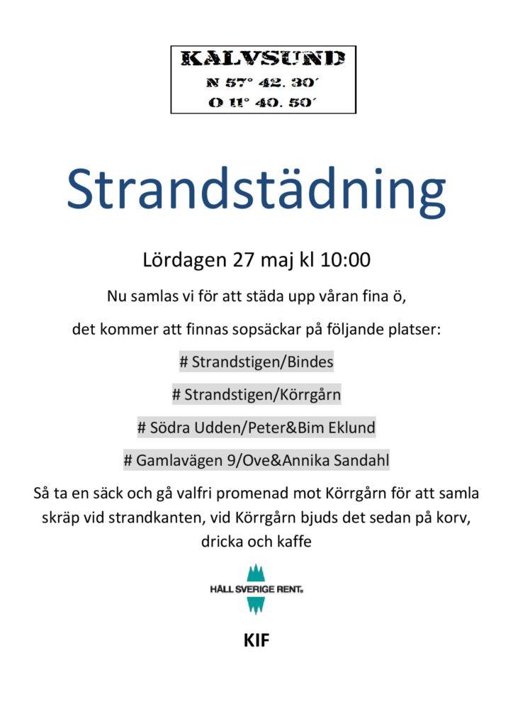 Strandstädning @ Strandstigen