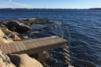 Åretrunt bad på Kalvsund